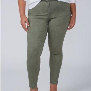 Lane Bryant stretch mid rise skinny jeans